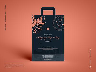 Free Shopping Paper Bag Mockup shopping bag mockup
