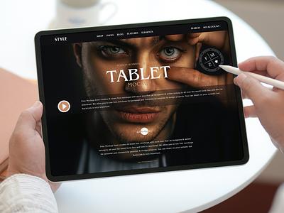 Free Modern Tablet Mockup tablet mockup