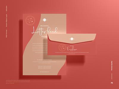 Free Letterhead Mockup letterhead mockup