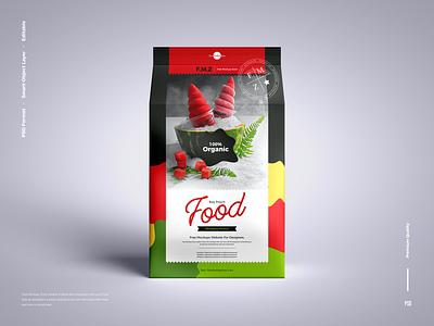 Free Food Pouch Packaging Mockup packaging mockup