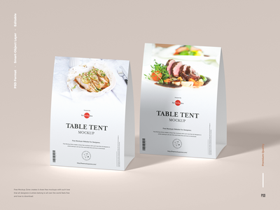 Free Table Tent Mockup branding mockup