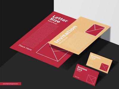 Free Stationery Mockup For Branding
