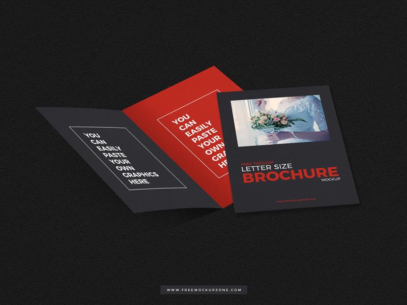 Free twoleaf brochure mockup