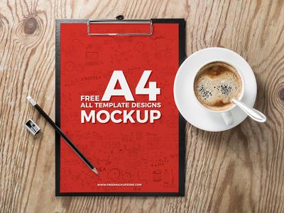 Free A4 Template Mockup Psd