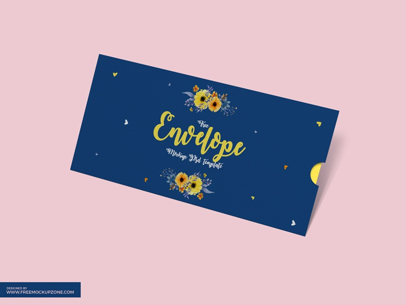 free envelope psd mockup template by free mockup zone dribbble