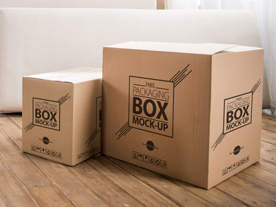 Free High Quality Packaging Box On Wooden Floor Psd Mockup By Free