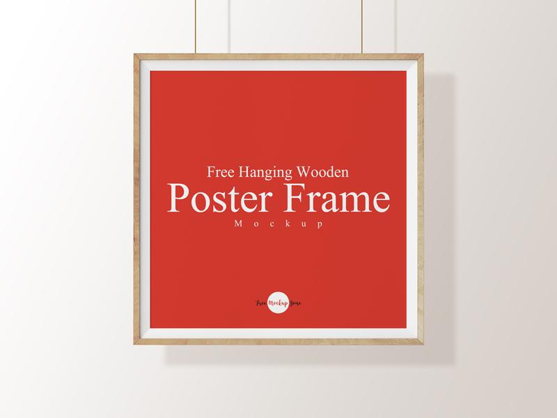 Free Hanging Wooden Poster Frame Mockup Psd Template mockup template free psd mockup freebie free mockup mockup free psd mockup mockup frame mockup poster mockup