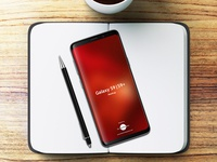 Free Notebook With Samsung Galaxy S9 & S9+ Mockup