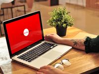 Free Psd Girl Using MacBook Pro Mockup