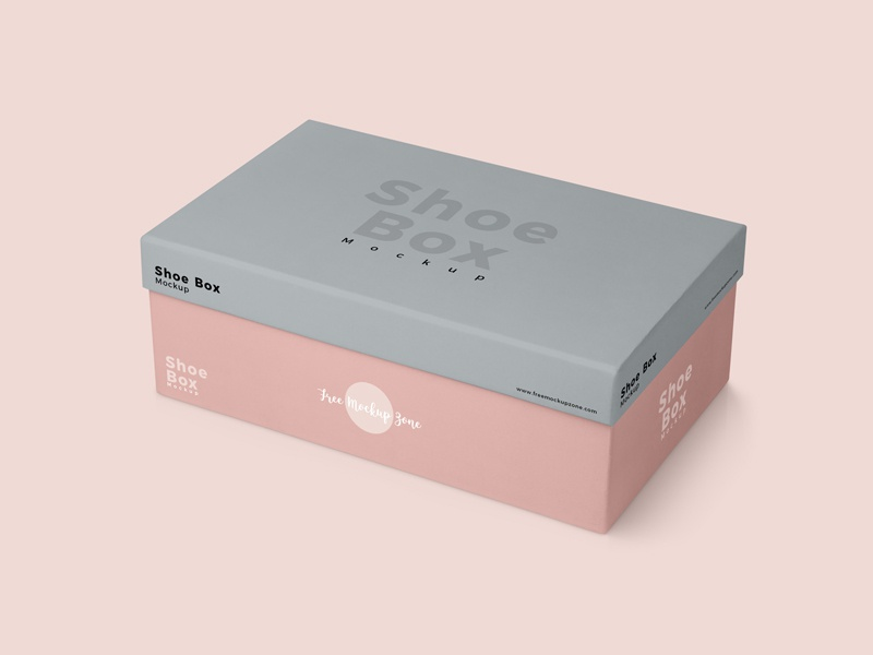Free Shoe Box Packaging Mockup By Free Mockup Zone On Dribbble