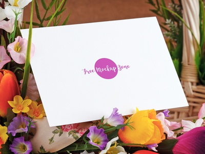 Free Lovely Mothers Day Greeting Card Mockup 2018