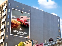 Free Outdoor Building Wall Advertisement Billboard Mockup Psd