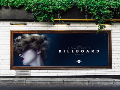 Free Roadside Advertisement Billboard Mockup Psd 2018 free branding freebie psd mockup psd free mockup mockup free mockup billboard mockup