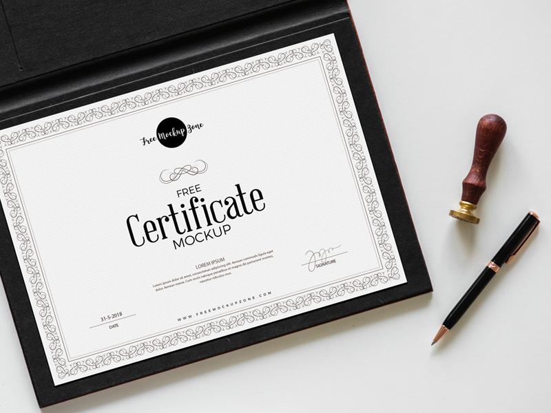Free Certificate Mockup 2018 by Free Mockup Zone ...