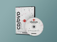 Free Modern CD / DVD Disc Cover Mockup