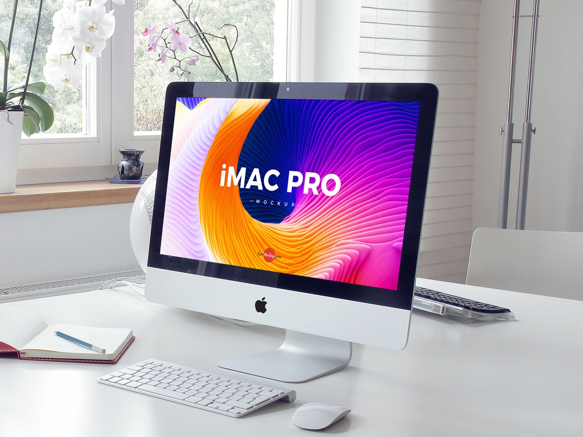 Download Free Interior iMac Pro Mockup Psd