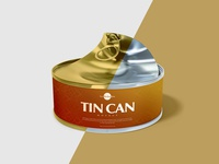 Free Open Tin Can Mockup Psd