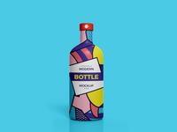 Free Modern Brand Bottle Mockup Psd