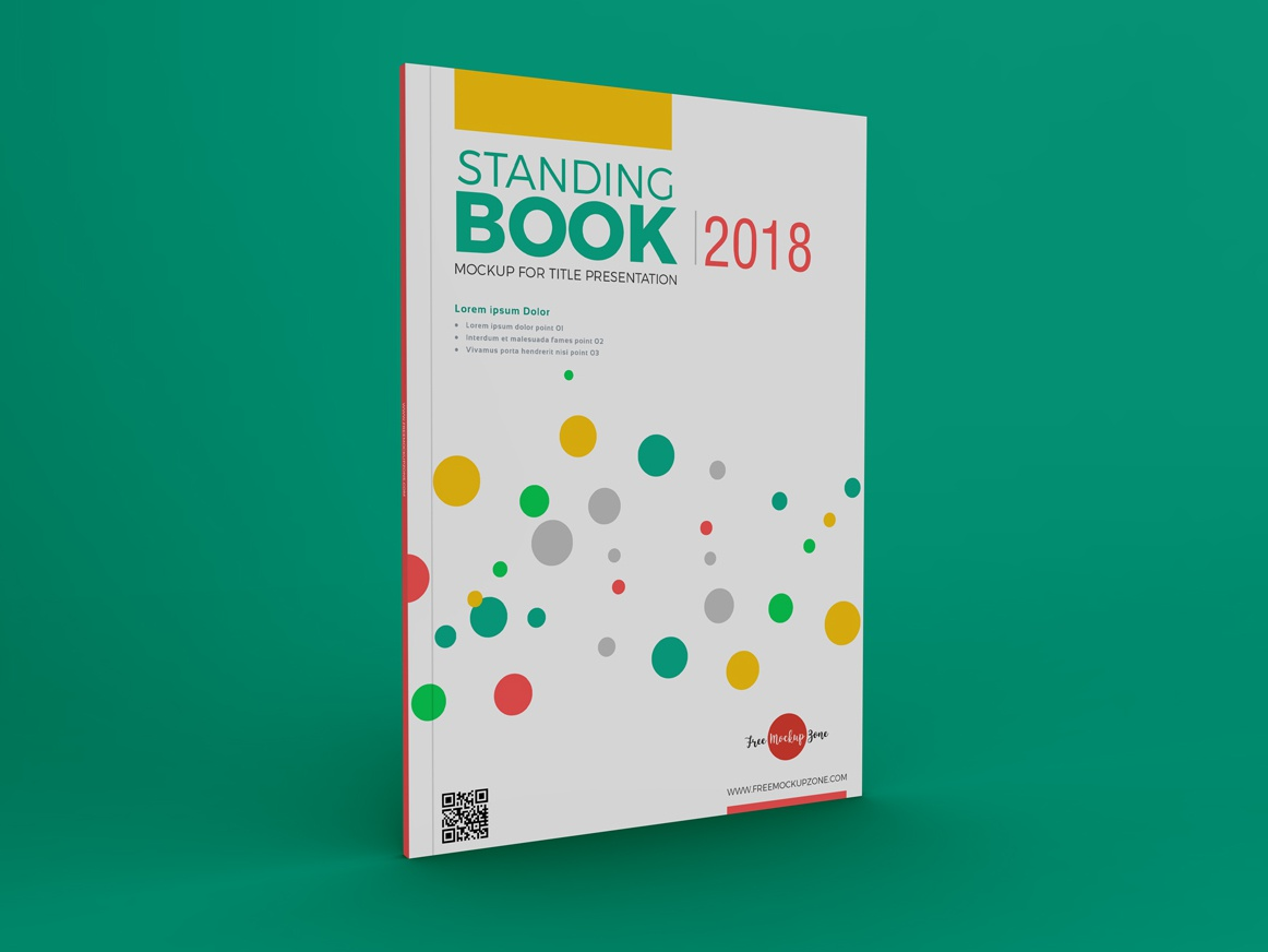 Free standing book mockup for title presentation 600