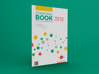Free Standing Book Mockup For Title Presentation