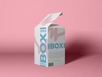 Free Packaging Open Box Mockup PSD