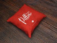 Free Brand Square Pillow Mockup PSD