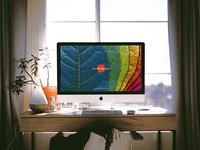 Free Interior Designer Workstation iMac Pro Mockup PSD