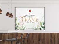 Free Modern Restaurant Interior Frame Mockup