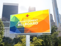 Free City Outdoor Advertisement Billboard Mockup