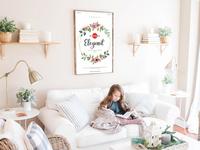 Free Elegant Interior Frame Mockup
