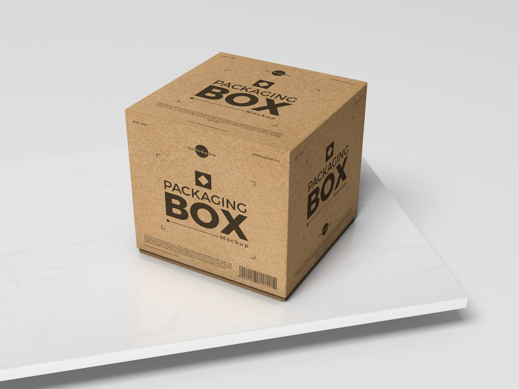 Free Psd Packaging Box Mockup For Presentation By Free Mockup Zone