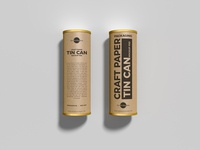 Free Craft Paper Tin Cans Mockup PSD