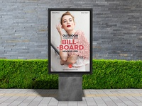Free Outdoor Stand Billboard Mockup PSD