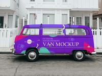 Free Outdoor Advertisement Van Mockup