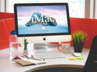 Free Designer Workstation iMac Mockup