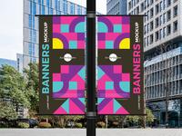 Free Lamp Post Banners Mockup Vol 2