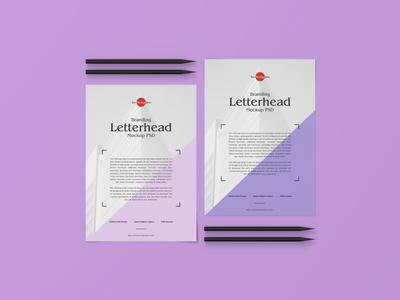 Free Branding Letterhead Mockup PSD
