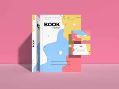 Free Book With Business Card Mockup psd print template stationery mockups logo identity freebie free book mockup business card mockup mockup psd mockup free free mockup mock-up mockup business card font download branding