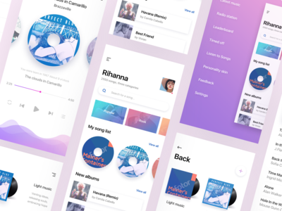 Gradient style music app