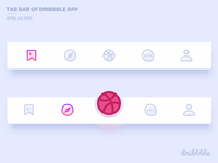 Tab Bar of dribbble App
