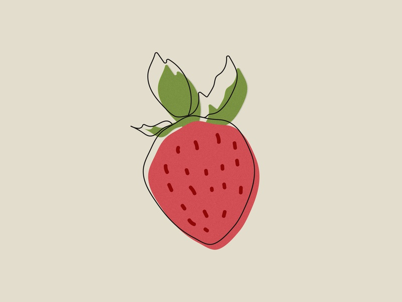 Strawberry artwork illustration art leaves strawberries fruit illustration strawberry illustration