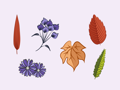 Hello Autumn 🍁 floral leaves illustration art illustrator line drawing autumn colors art drawings illustration artwork