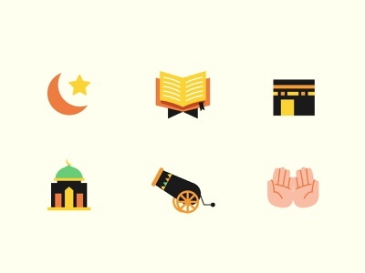 Ramadan Icons 🌙 ramadan mubarak fasting vector illustration vector art design islamic art islamic illustrator vector colors illustration art illustration ramadan kareem icons islam ramadan