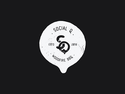 Logo concept for woodfire bbq indentity restaurant social branding logos logo design