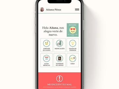 Ayuda al paciente con Trastorno Bipolar health app health app ui  ux design ui  ux
