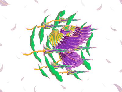 PROLOG(PROLOGUE), t-shirt illustration crow and keris