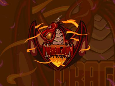 Dragon Esport Logo and Mascot