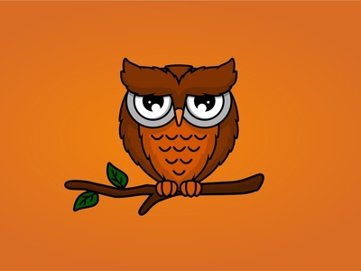 Owl cartoon design
