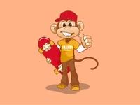 Skate monkey mascot