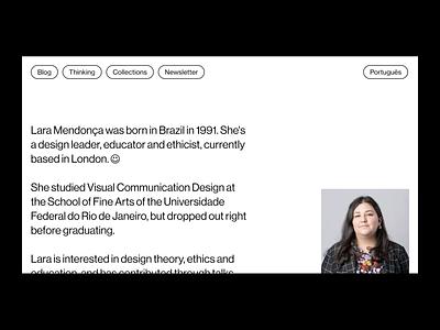 Lara Mendonça — New site designer portfolio portfolio design website portfolio